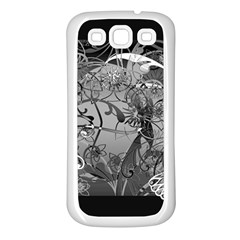 Kringel Circle Flowers Butterfly Samsung Galaxy S3 Back Case (white)