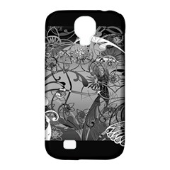 Kringel Circle Flowers Butterfly Samsung Galaxy S4 Classic Hardshell Case (pc+silicone)
