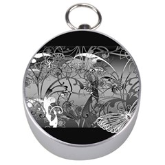 Kringel Circle Flowers Butterfly Silver Compasses