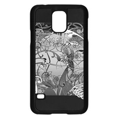 Kringel Circle Flowers Butterfly Samsung Galaxy S5 Case (black)