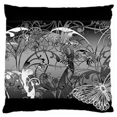 Kringel Circle Flowers Butterfly Large Flano Cushion Case (two Sides)