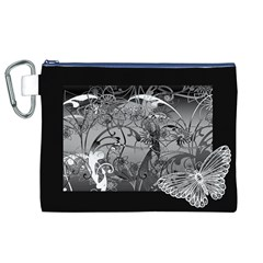 Kringel Circle Flowers Butterfly Canvas Cosmetic Bag (xl)