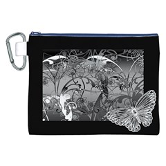 Kringel Circle Flowers Butterfly Canvas Cosmetic Bag (xxl)