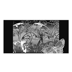 Kringel Circle Flowers Butterfly Satin Shawl