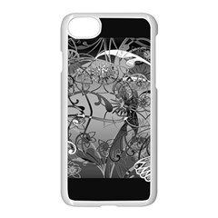 Kringel Circle Flowers Butterfly Apple Iphone 7 Seamless Case (white)