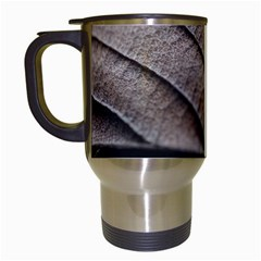 Leaf Veins Nerves Macro Closeup Travel Mugs (white)