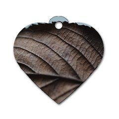 Leaf Veins Nerves Macro Closeup Dog Tag Heart (two Sides)