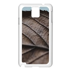 Leaf Veins Nerves Macro Closeup Samsung Galaxy Note 3 N9005 Case (white)