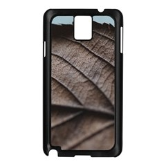 Leaf Veins Nerves Macro Closeup Samsung Galaxy Note 3 N9005 Case (black)