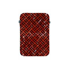 Woven2 Black Marble & Red Marble (r) Apple Ipad Mini Protective Soft Case