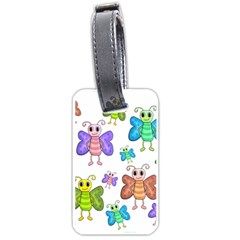 Colorful, cartoon style butterflies Luggage Tags (One Side)