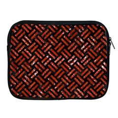 Woven2 Black Marble & Red Marble Apple Ipad Zipper Case