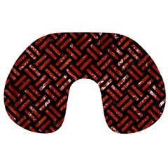 Woven2 Black Marble & Red Marble Travel Neck Pillow