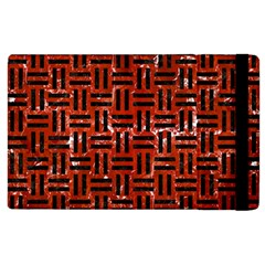 Woven1 Black Marble & Red Marble (r) Apple Ipad 3/4 Flip Case