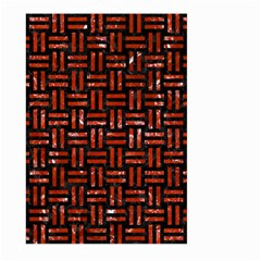 Woven1 Black Marble & Red Marble Large Garden Flag (two Sides)