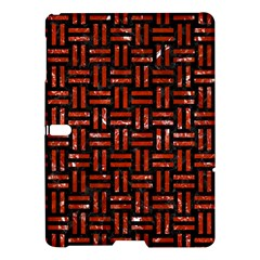 Woven1 Black Marble & Red Marble Samsung Galaxy Tab S (10 5 ) Hardshell Case