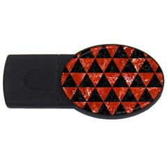 Triangle3 Black Marble & Red Marble Usb Flash Drive Oval (2 Gb)