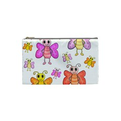 Cute Butterflies Pattern Cosmetic Bag (small)