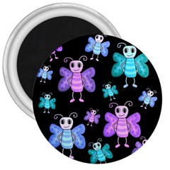 Blue and purple butterflies 3  Magnets