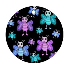 Blue and purple butterflies Ornament (Round)