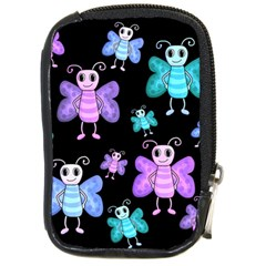 Blue And Purple Butterflies Compact Camera Cases
