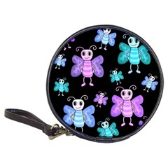Blue And Purple Butterflies Classic 20 Cd Wallets