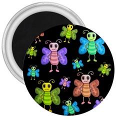 Cartoon style butterflies 3  Magnets
