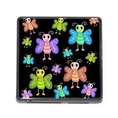 Cartoon Style Butterflies Memory Card Reader (square)