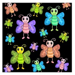 Cartoon Style Butterflies Large Satin Scarf (square)