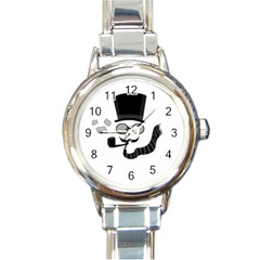 Invisible man Round Italian Charm Watch