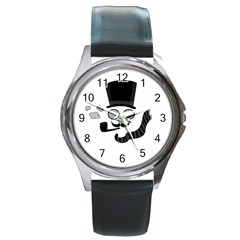 Invisible man Round Metal Watch