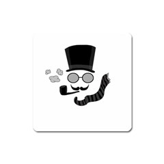 Invisible man Square Magnet