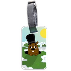 Groundhog Luggage Tags (One Side)