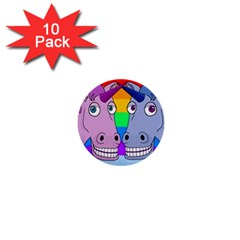 Unicorn Love 1  Mini Buttons (10 Pack)