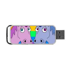 Unicorn Love Portable Usb Flash (one Side)