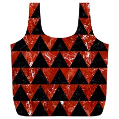 Triangle2 Black Marble & Red Marble Full Print Recycle Bag (xl)