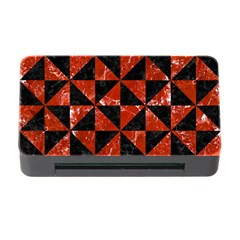 Triangle1 Black Marble & Red Marble Memory Card Reader With Cf