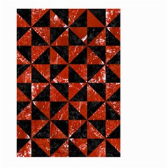 Triangle1 Black Marble & Red Marble Large Garden Flag (two Sides)