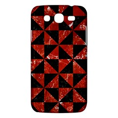 Triangle1 Black Marble & Red Marble Samsung Galaxy Mega 5 8 I9152 Hardshell Case