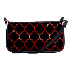 Tile1 Black Marble & Red Marble Shoulder Clutch Bag