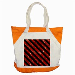 Stripes3 Black Marble & Red Marble (r) Accent Tote Bag
