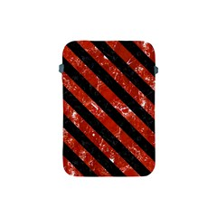 Stripes3 Black Marble & Red Marble (r) Apple Ipad Mini Protective Soft Case