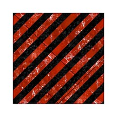 Stripes3 Black Marble & Red Marble Acrylic Tangram Puzzle (6  X 6 )