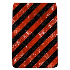 Stripes3 Black Marble & Red Marble Removable Flap Cover (s)