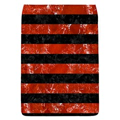 Stripes2 Black Marble & Red Marble Removable Flap Cover (s)
