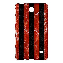 Stripes1 Black Marble & Red Marble Samsung Galaxy Tab 4 (7 ) Hardshell Case