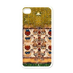 Festive Cartoons In Star Fall Apple Iphone 4 Case (white)