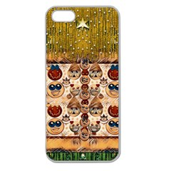 Festive Cartoons In Star Fall Apple Seamless Iphone 5 Case (clear)