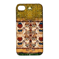 Festive Cartoons In Star Fall Apple Iphone 4/4s Hardshell Case With Stand