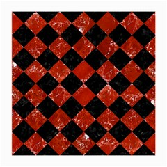Square2 Black Marble & Red Marble Medium Glasses Cloth (2 Sides)